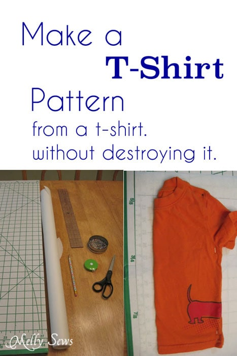 How to Make a Pattern from a T-shirt (without destroying it) - MellySews.com