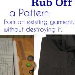 Blazer pattern making tutorial, Rub off patterning