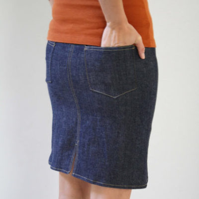 Denim skirt tutorial