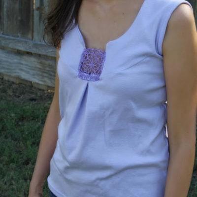 Lace Inset T-shirt