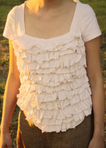 Ruffled corset t-shirt tutorial - Melly Sews