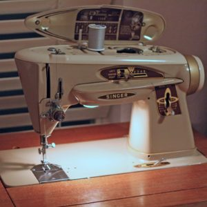 Singer Rocketeer Sewing Machine in a Custom Table