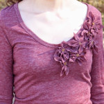 Poinsettia T-Shirt Refashion