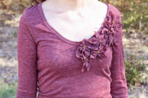 Poinsettia T-Shirt Refashion