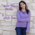 ReInventions – Violet Flowers Sweater