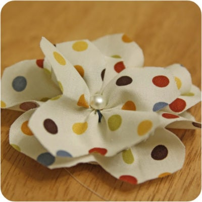 Polkadot Flower Tutorial