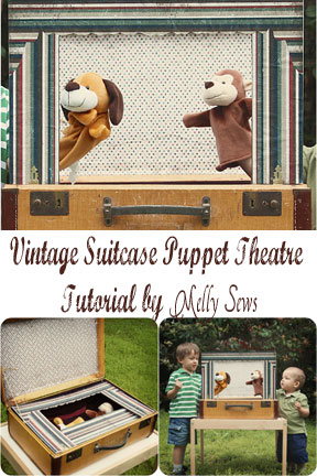 Turn a vintage suitcase into a puppet theater, complete with storage. Great Tutorial!