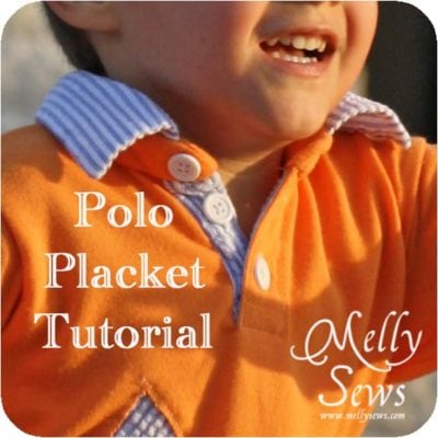 Polo Shirt Placket Tutorial