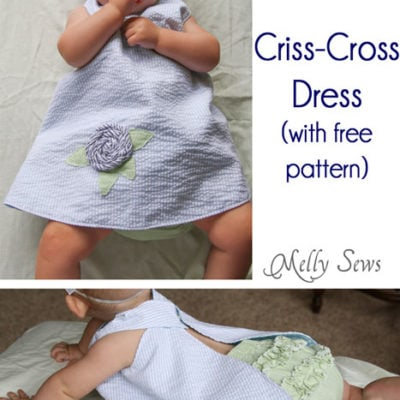 Criss Cross Dress Tutorial (aka the easiest dress ever) with Free Pattern!