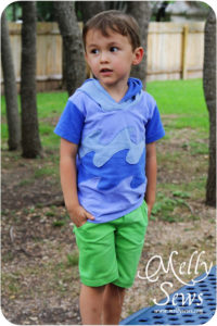 T-shirt and Pant to Shorts Refashion - Melly Sews