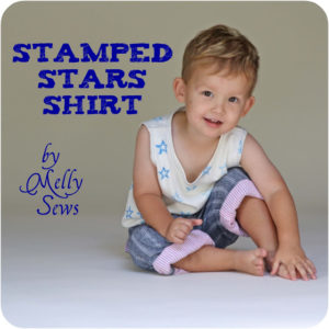 Stamped Stars Shirt Tutorial - Melly Sews