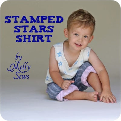 Stamped Stars Shirt – Mini Tutorial