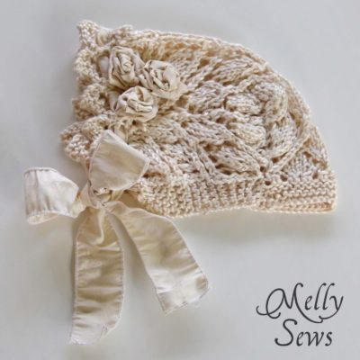 Lace Knit Baby Bonnet – Free pattern