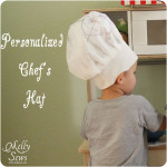 Personalized Chef Hat Tutorial