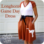 Longhorn Game Day Dress Tutorial