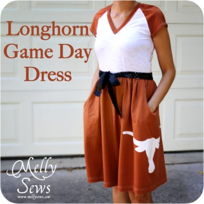 Longhorn Game Day Dress Tutorial