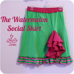 Watermelon Social Skirt Tutorial - Melly Sews