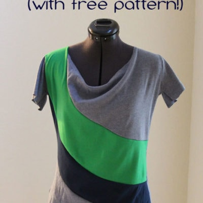 Draped Colorblock T-shirt (with free pattern!)