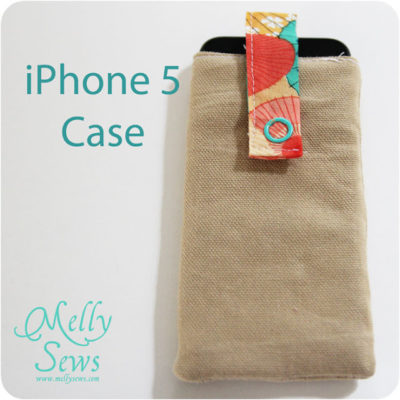 DIY Sewn iPhone 5 Case