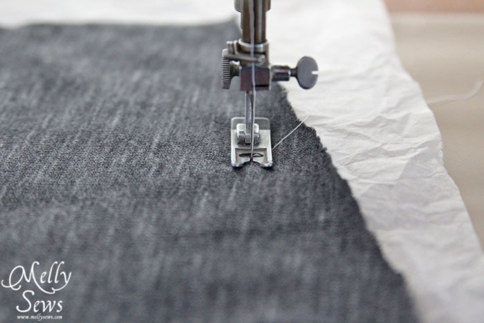 What to do to keep your machine from eating knit fabric - Melly Sews