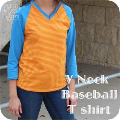 V-Neck Baseball (Raglan) T-shirt