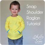 Button Shoulder Raglan