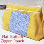 Last Minute Gift #2 – Flat Bottom Zip Pouch