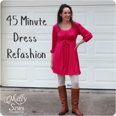 45 Minute Dress Refashion