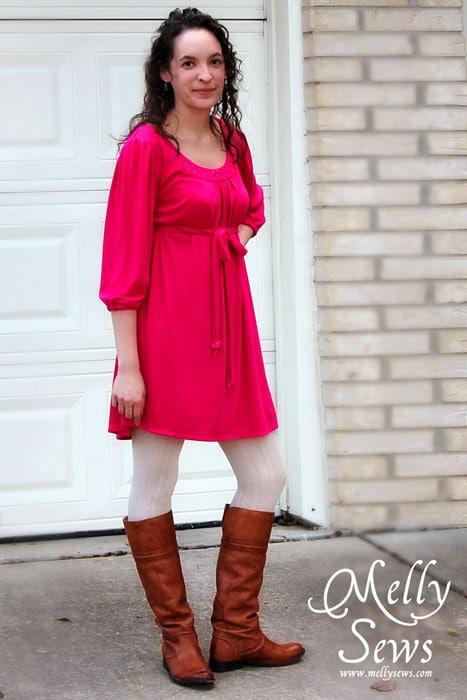 Melly Sews dress refashion