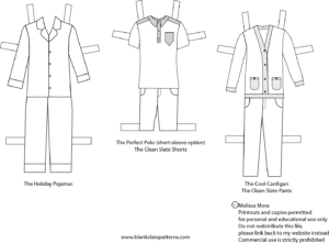 photograph about Free Printable Paper Dolls titled Contemporary Free of charge Printable Boy Paper Dolls! - Melly Sews