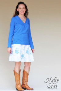 DIY pleated collar shirt by Melly Sews