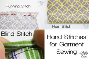 Hand stitches for sewing clothes