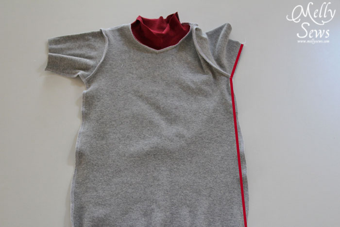 Step 6 - Sew a t shirt for boys with this free pattern and tutorial from Melly Sews