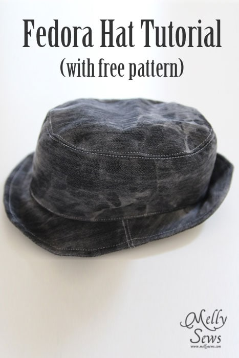 Fedora Hat Tutorial and Pattern - Melly Sews