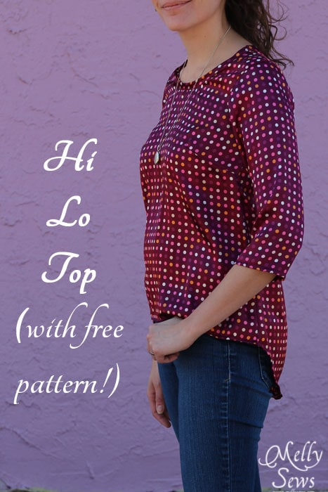 Hi Lo Top tutorial with free pattern by Melly Sews