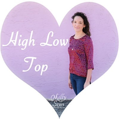 Polka Dot High Low Shirt