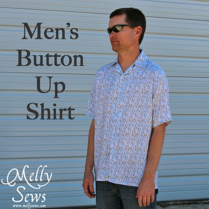 Men's Button Up Shirt by Melly Sews