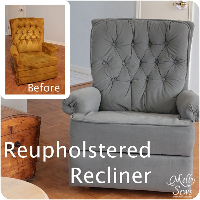 Project Redecorate Reupholster A Recliner Melly Sews