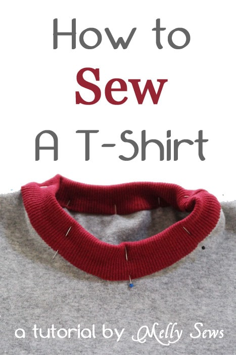 DIY Tutorial on How to Sew a T-shirt by Melly Sews