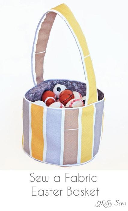 Sew a Fabric Easter Basket - DIY Easter Basket Tutorial