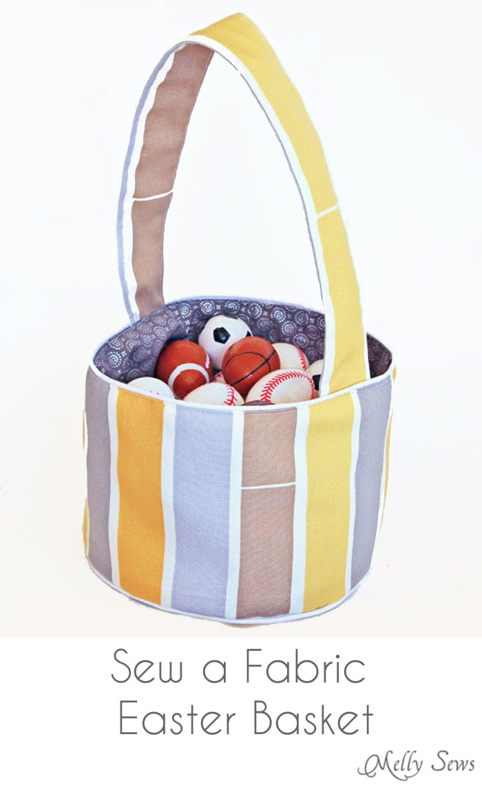 Sew a Fabric Easter Basket - Easter Basket for Boys - Melly Sews