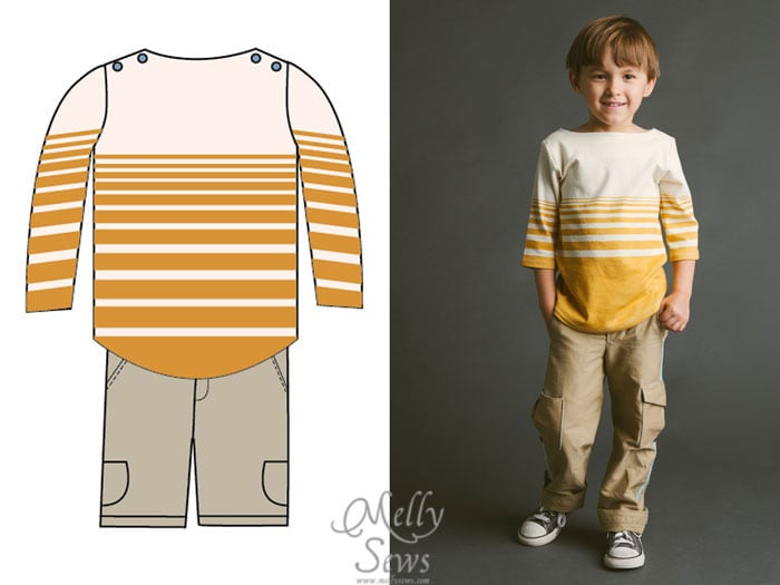 Blank Slate Patterns Spring Sewing Patterns: the Beachy Boatneck and Coastal Cargos