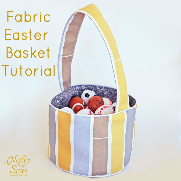 Easter bunny basket tutorial crafthubs make a fabric easter basket tutorial melly sews negle Images