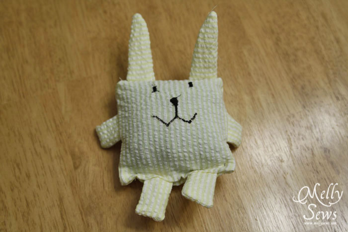 Sew Easter Bunny Bean Bag with Melly Sews