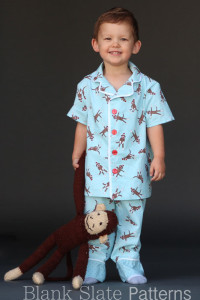 Blank Slate Patterns Lazy Day Pajamas Sewing Pattern for boys and girls