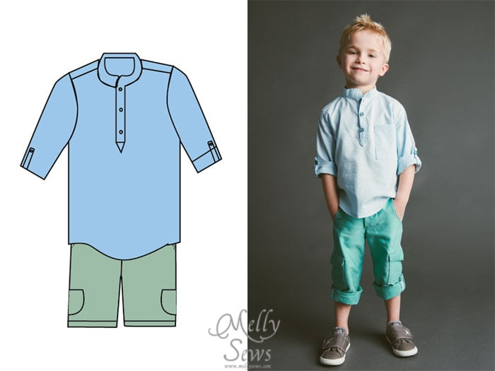 Blank Slate Patterns Spring Sewing Patterns: The Prepster Pullover and Coastal Cargos