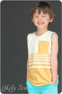 Blank Tank (Blank Slate Patterns) in custom Spoonflower knit