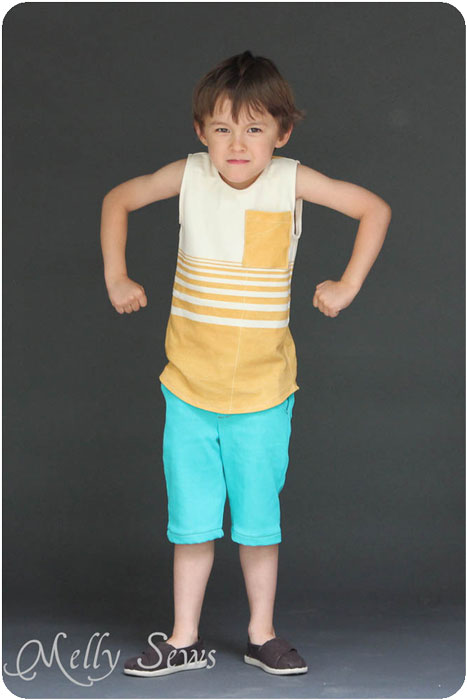 Blank Tank and Clean Slate Shorts (by Blank Slate Patterns) in great spring colors