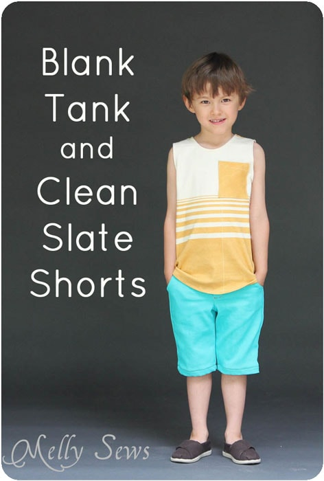 Blank Tank and Clean Slate Shorts patterns by Blank Slate Patterns sewn by Melly Sews