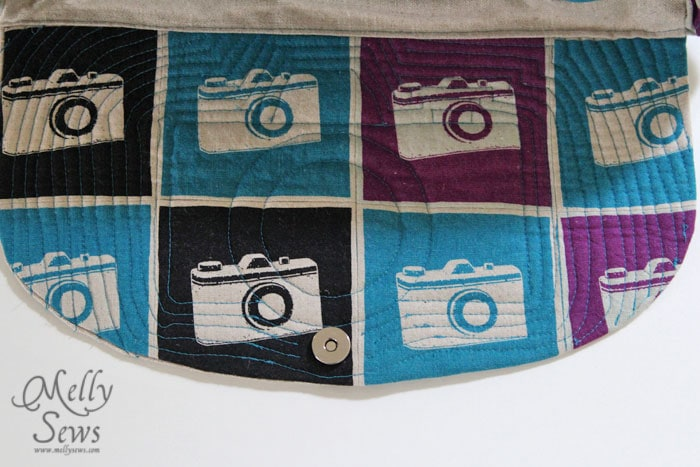 Quilted Camera Bag by Melly Sews